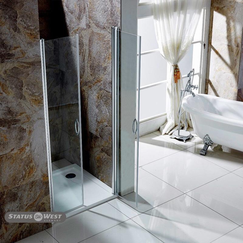 neu duschkabine duschabtrennung dusche glast r nischent r. Black Bedroom Furniture Sets. Home Design Ideas