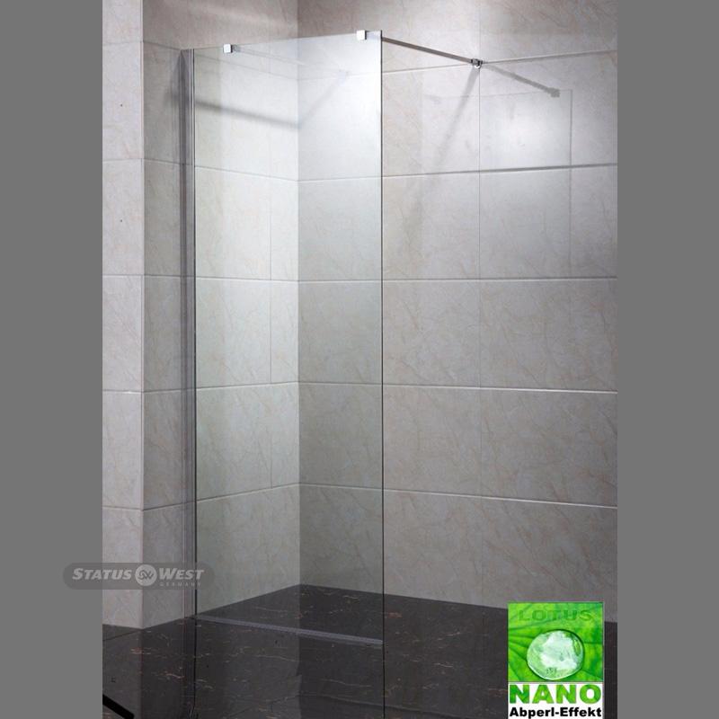 duschwand walk in nano duschabtrennung esg glas 10 mm seitenwand statuswest. Black Bedroom Furniture Sets. Home Design Ideas